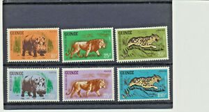 1962-Wild-JUNGLE-ANIMAUX-Guinee-248-253-Comme-neuf-NH-complet-7-80-valeur-au-detail