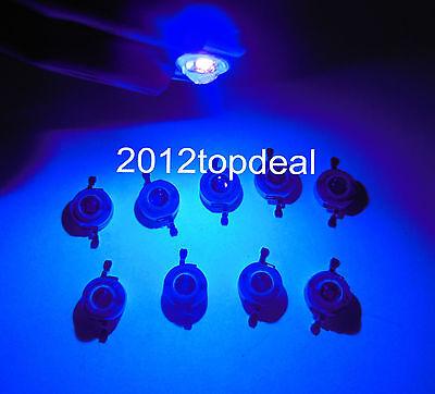 NEW 10pcs 3W UV 395-405nm LED ultraviolet LED High Power Dioders bead DIY