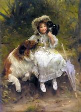 "He Won't Hurt You   by Arthur John Elsley  Giclee Canvas Print Repro  14"""