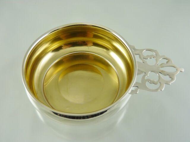 Pierced Handle Porringer Bowl Gold Washed By Webster Co Sterling 19837 For Sale Online Ebay
