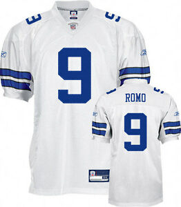 new concept c003a a0b9a Details about Tony Romo Dallas Cowboys Reebok AUTHENTIC White NFL Jersey