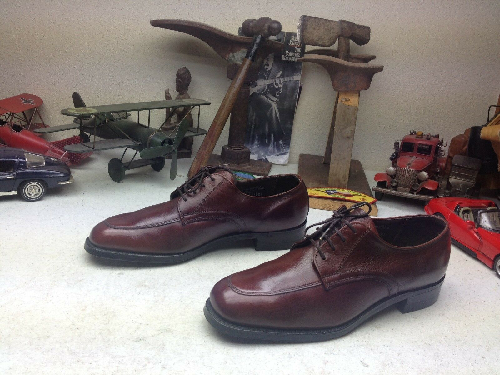 a buon mercato MADE IN USA BARCLAY BURGUNDY OXBLOOD Marrone LEATHER BUSINESS BUSINESS BUSINESS POWER scarpe 10 D  Sconto del 40%