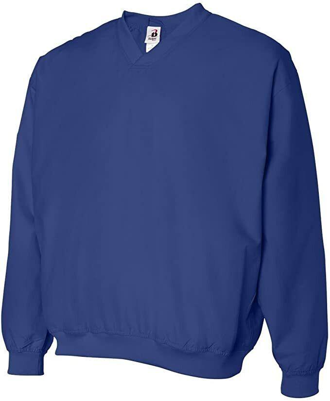 Badger 7618 Microfiber Windshirt w/Pockets, Royal Blue, Multiple Sizes