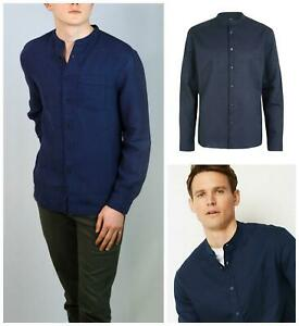 M/&S/&W Men Linen Comfort Long Sleeve Button up Shirt
