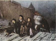 Alte Kunstpostkarte - Wassili Grigorjewitsch Perow - Trojka