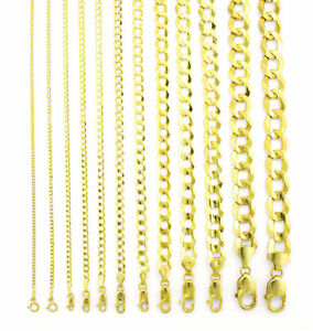REAL-14K-Yellow-Gold-SOLID-1-5MM-12MM-Cuban-Curb-Chain-Link-Necklace-16-034-30-034