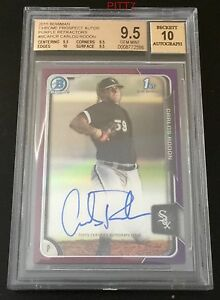 CARLOS-RODON-RC-AUTO-2015-BOWMAN-CHROME-PURPLE-REFRACTOR-250-BGS-GEM-MINT-9-5