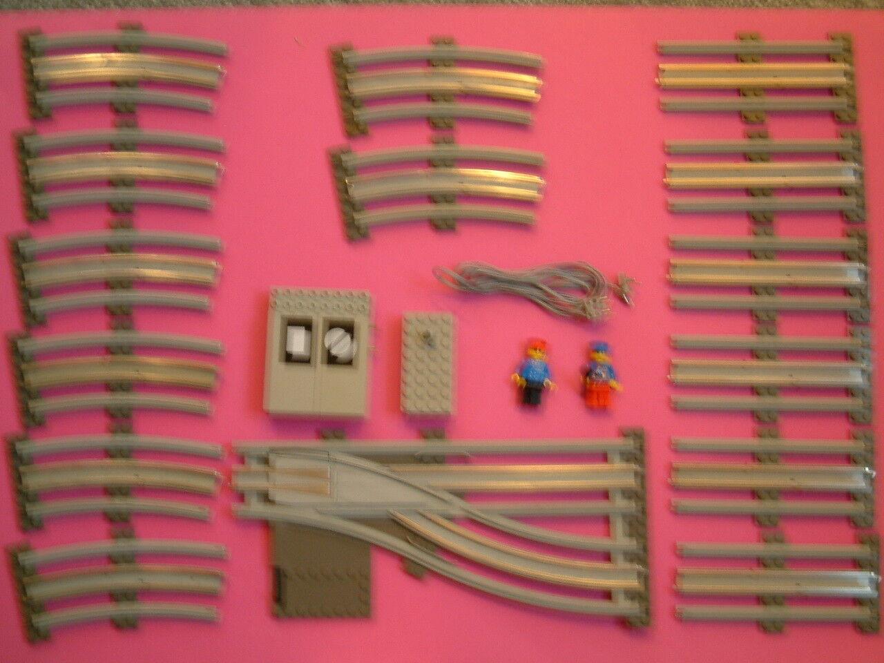 LEGO 12v R-H punti remoti, INTERRUTTORE, CAVO, 14 Set ferrovia, Figure 2, 7 Treno foto.