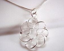 Curls and Spirals Pendant 925 Sterling Silver Corona Sun Jewelry
