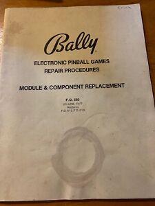 Bally-Electronic-Pinball-Games-Repair-Procedures-Manual-Module-Component-1977
