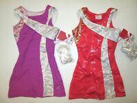 Girls Sc (4-5) Ic (6-7) Biketard Foil Child Dance Gymnastics Unitard Leotard