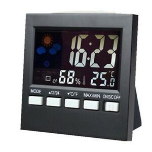 1X-LCD-Display-Wireless-Thermometer-Meteorological-Humidity-Sensor-Station-Alarm