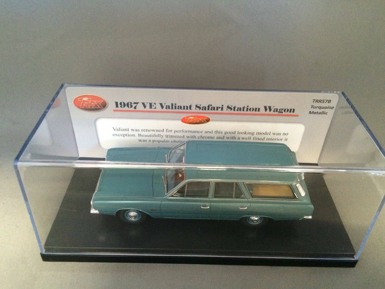Trax TR57B 1967 VE Valiant Safari Station Wagon- Turquoise