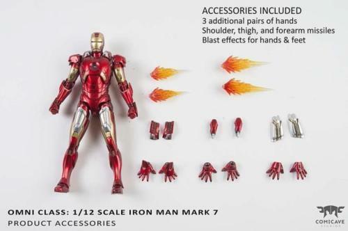 Comicave Iron Man MK7 1 12th Diecast Coleccionables De Aleación Figura de Acción Juguetes