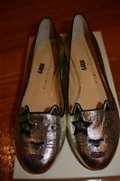 Authentic Charotte Olympia Flats Kitty Embroidered Vero Cuoio