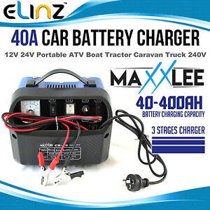 40A-Amp-Car-Battery-Charger-Portable-12V-24V-ATV-Boat-Tractor-Caravan-240V-30A