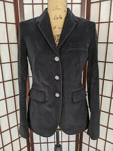 Women-039-s-Brooks-Brothers-346-Milano-Fit-Black-Corduroy-Blazer-Jacket-Size-4
