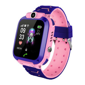 SmartWatch-para-Nino-Nina-Reloj-Inteligente-GPS-Camara-Juegos-Alarma-Rosa