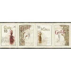 Wallpaper-Border-Men-and-Women-Vintage-Golfers-Golf-18-Holes