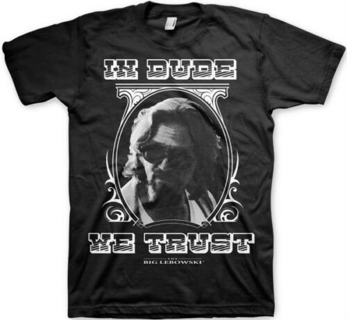 BIG LEBOWSKI IN DUDE WE TRUST T-Shirt  camiseta cotton officially licensed