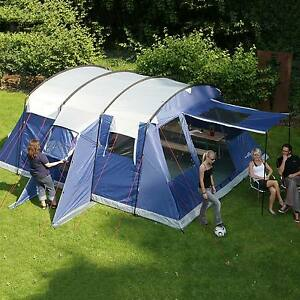 Image is loading skandika-Milano-6-Person-Man-Large-Family-Tunnel- & skandika Milano 6 Person/Man Large Family Tunnel Tent Sewn-in ...