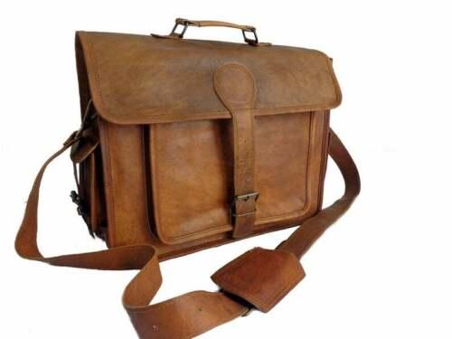 """Vintage Leather Satchel Messenger Bag 18"""" Inchs La"""