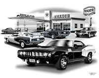 Barracuda 70, 71,72,73 Hemi Cuda Muscle Car Art Print