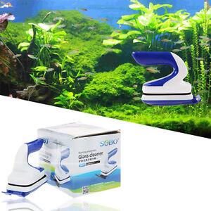 Aquarium fish tank glass algae gravel cleaner magnetic for How to clean algae from fish tank
