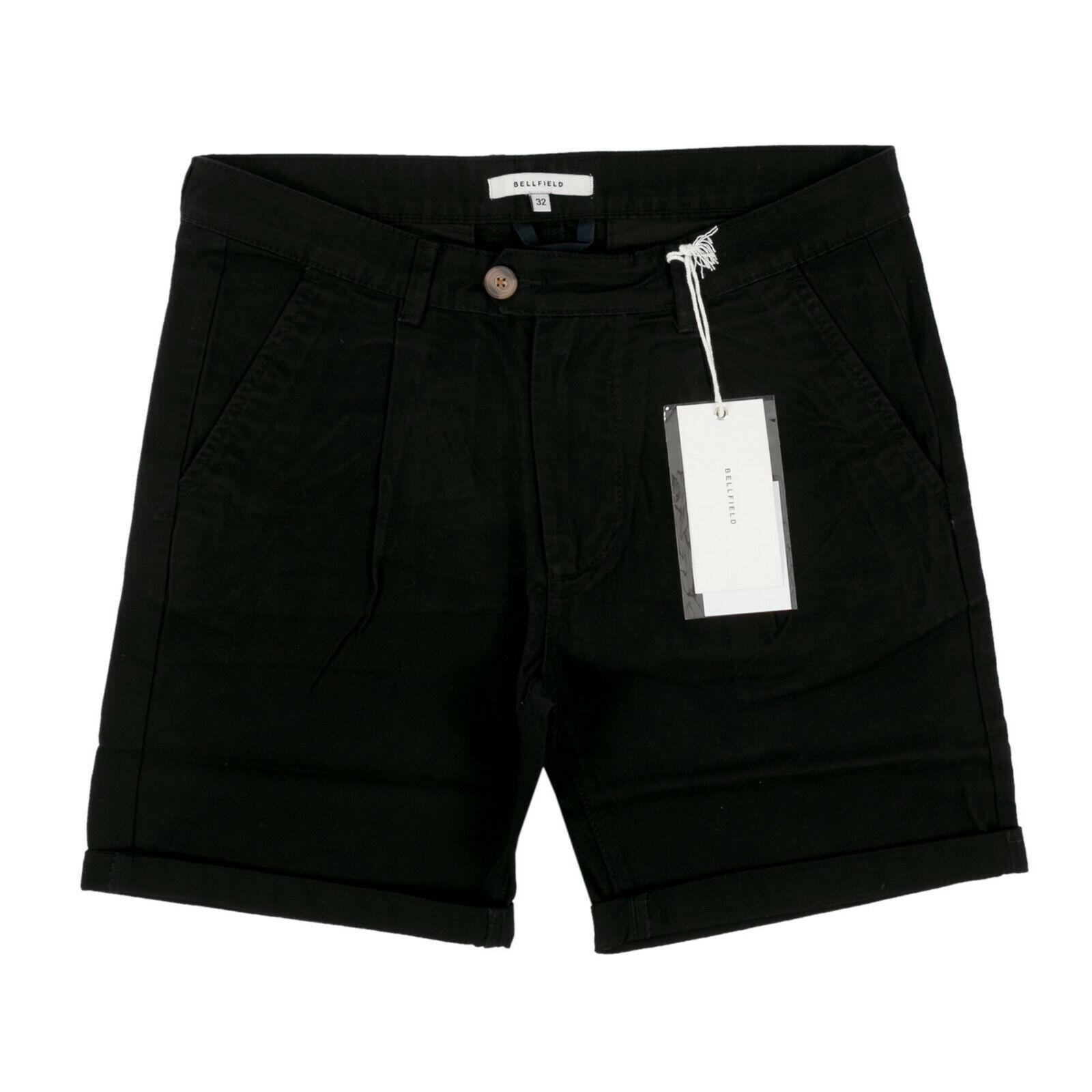 BELLFIELD Herren Chino Shorts Kowalski Schwarz / W32 (W31) / kurze Hose