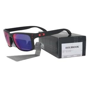 c294760ea6 Oakley OO 9102-36 Holbrook Matte Black Frame + Red Iridium Mens ...