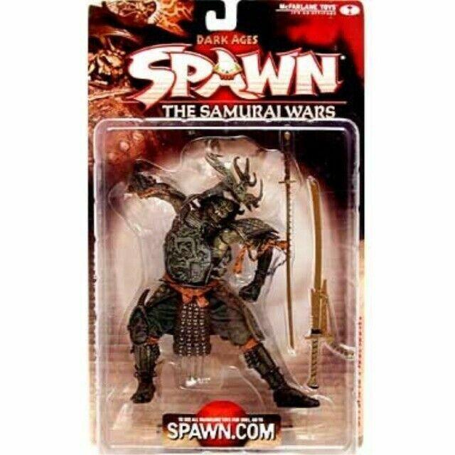 2001 McFarlane Dark Ages Spawn The Samurai Wars ~ Série 19 ~ SAMURAI SPAWN new in package