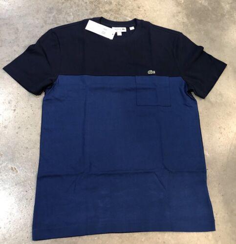 Cotton authentique Sport T Nwt 100 Bleu Moyenne Marine Lacoste En Sz 5qav1Ww