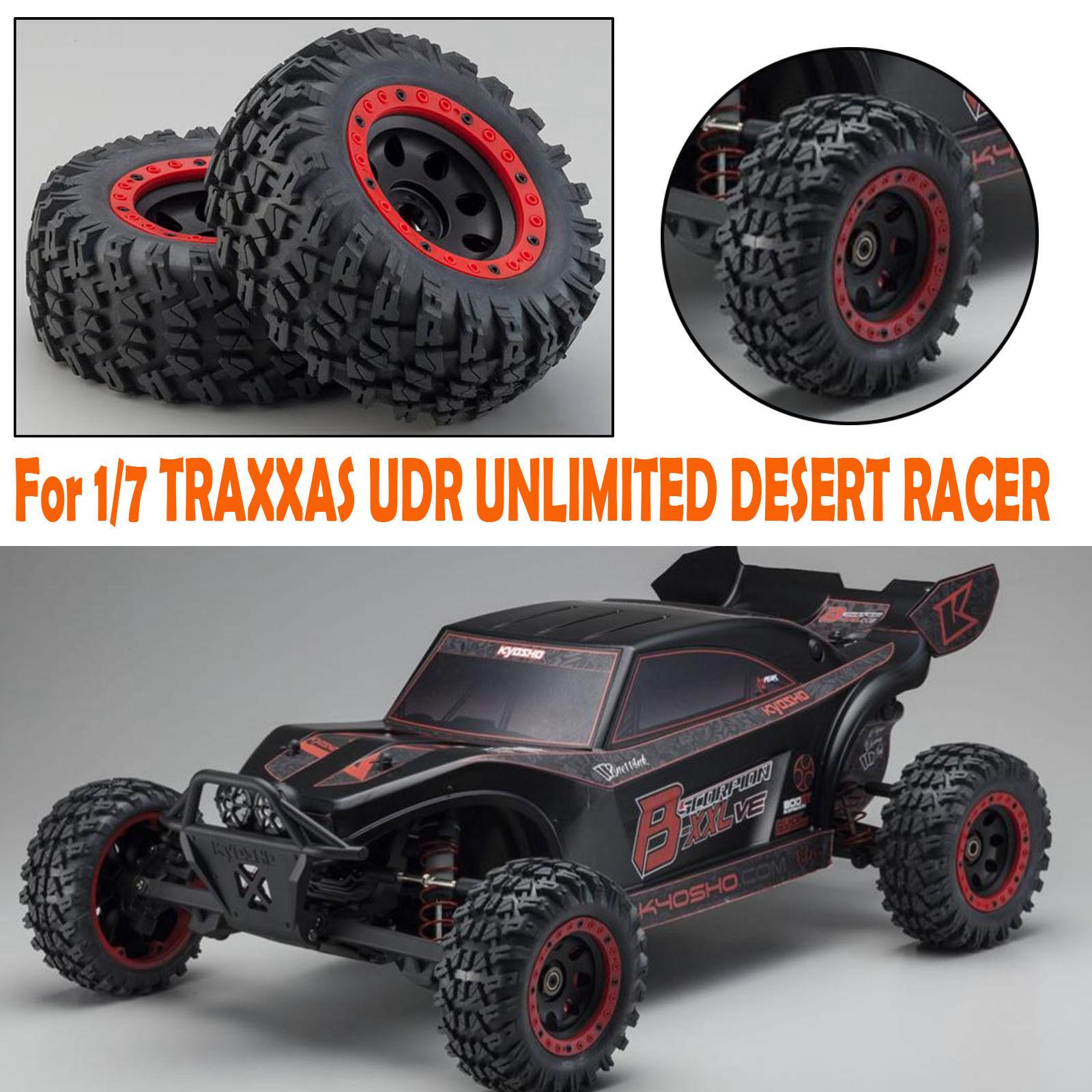 Para 1 7 TRAXXAS UDR RACER ilimitada de desierto 17mm grandes neumáticos de calidad sin pasta