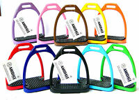 Aluminum Light Weight Stirrups Horse Riding With Treads 10 Colors 3 Size Amidale