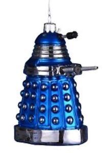 Doctor-Who-Dalek-Blue-5-034-Glass-Xmas-Ornament-NEW-Christmas-Tree-Decoration