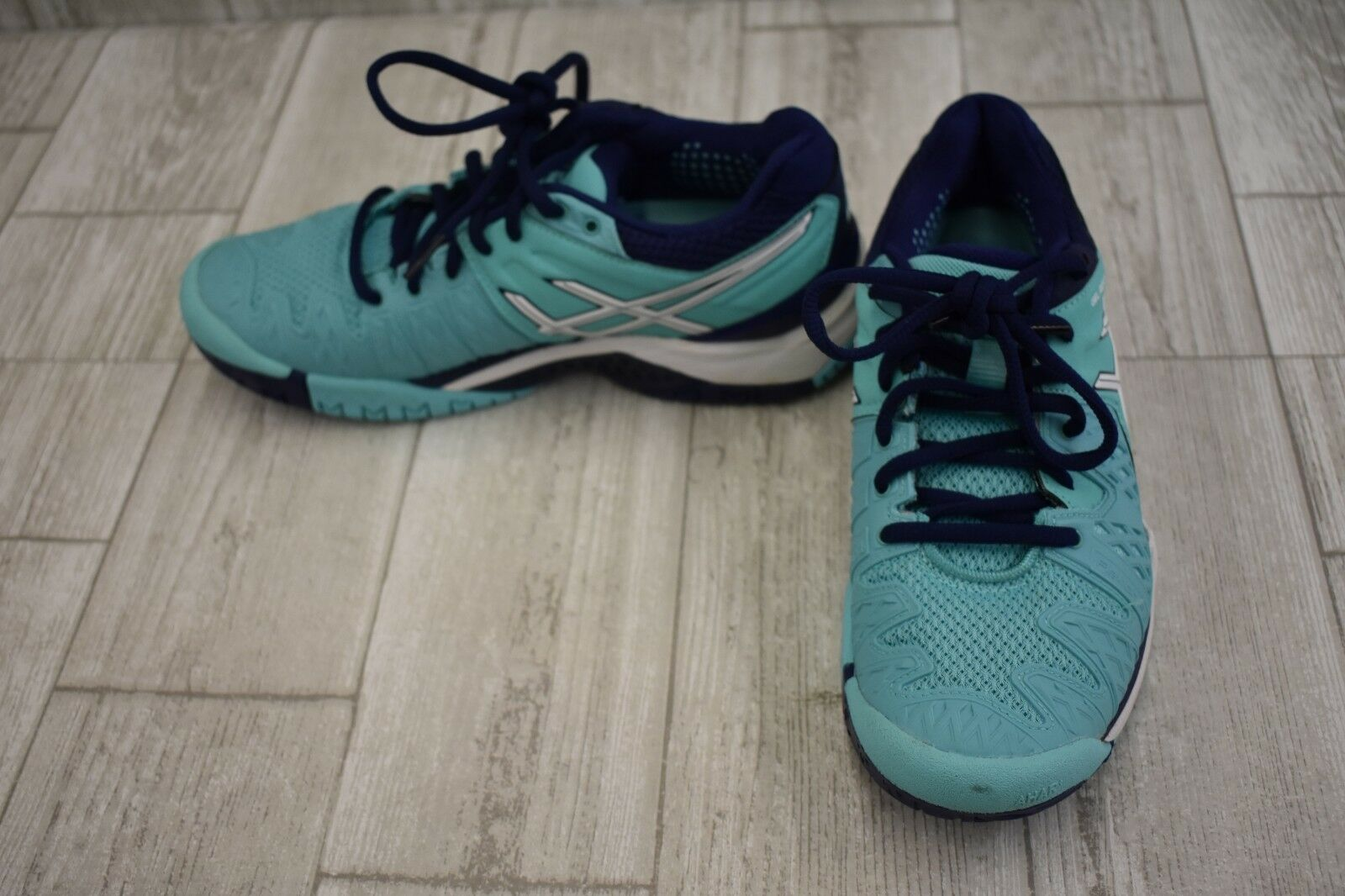 ASICS Donna Donna Donna  GEL-Resolution 6 Tennis scarpe-Donna  Dimensione 5.5 Pool blu ef4a9c