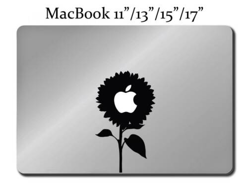 MACBOOK Mac Pro Air Sticker Apple Flower Nature M125 SUNFLOWER Decal LAPTOP