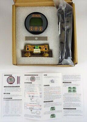 Voltage Current Meter with 13 ft Custom Cable QWORK Battery Monitor Voltmeter Ammeter Voltage Range 8V-80V and up to 500A