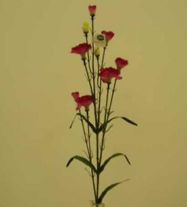 Red Spray Carnation Artificial Silk Flowers Pack x12 Stems