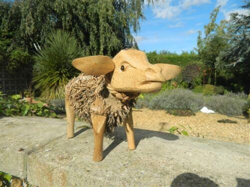 30cm Bamboo Sheep Goat Wooden Sheep Garden Ornament
