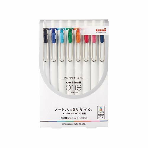 Mitsubishi Pencil GEL Ballpoint Pen Uni-ball One 0.38 8 Color Set Umns388c for sale online