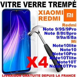 Vitre Film Protection Xiaomi Redmi 6A/7/8/9/9A Note 5/7/8/9/9S Pro Verre Trempe