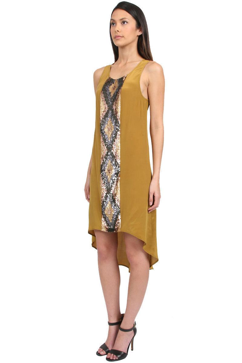 Haute Hippie Silk Sleeveless Sequin Embellished    Hi Lo  Dress  525 Size XS 5af230