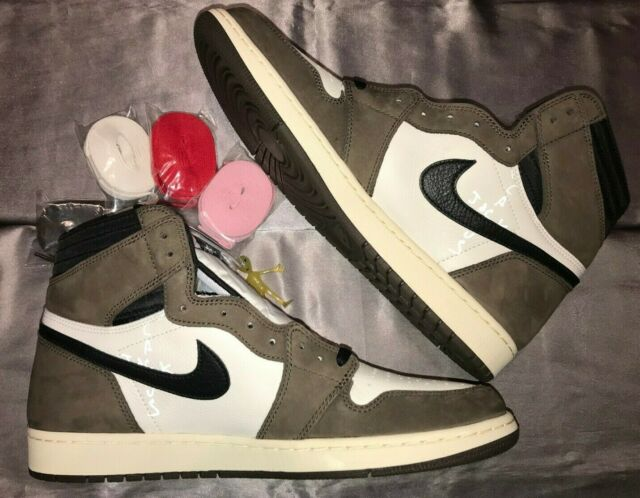 sports shoes 894f2 59a9d Cactus Jack Air Jordan 1 High OG Travis Scott Men's Size 13