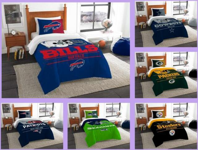 Nfl Licensed 2 Piece Twin Comforter Sham Bed Set In A Bag Choose Your