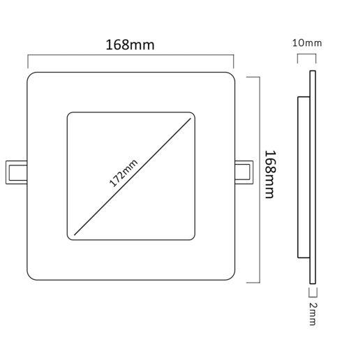 LED4U Panel Decken Lampe Unterputz Einbau Leuchte 6//12W Farbtemperatur Eckig NEU