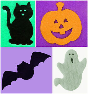 Crafts Appliques etc... 30+ Colours :- 16 Pumpkins -:- Felt Die-Cuts