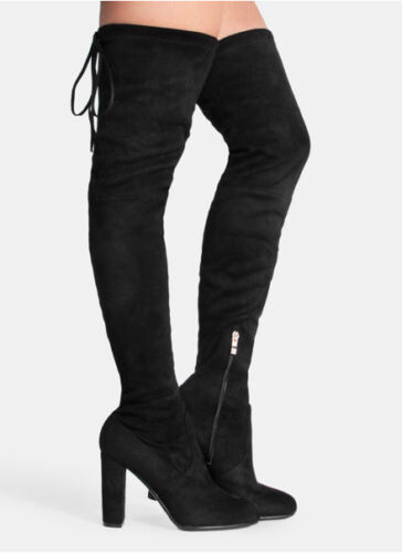 Knee Womens Uk Boot The Black Suede amp; 3 Sizes Envy Over 8 1HqZwB