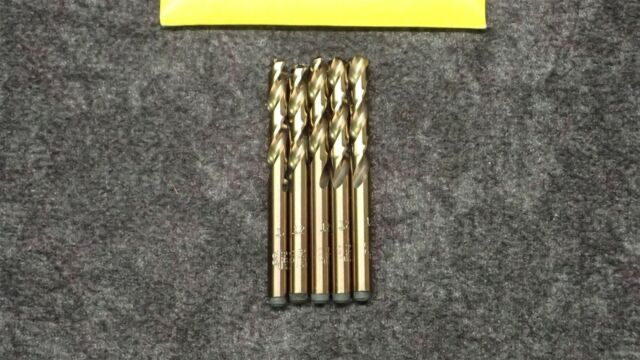 "MORSE AMBORE NEW 9//16/""S/&D DRILL,J.L.3 Flats Sp.Pt. Black//Gold 19034 135deg"