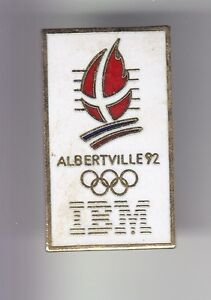 RARE-PINS-PIN-039-S-OLYMPIQUE-OLYMPIC-ALBERTVILLE-1992-IBM-FRANCE-OR-N-1-1990-17